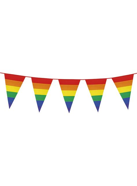 Guirnalda de banderines con arcoíris