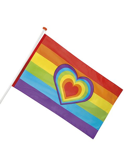 Bandera de arcoíris y corazón - para tus fiestas