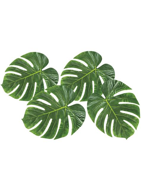 4 folhas de palmeira decorativas