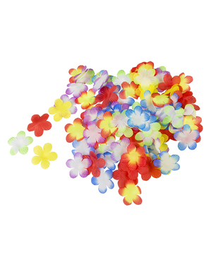 Hawaii Blumen Dekoration bunt gemischt