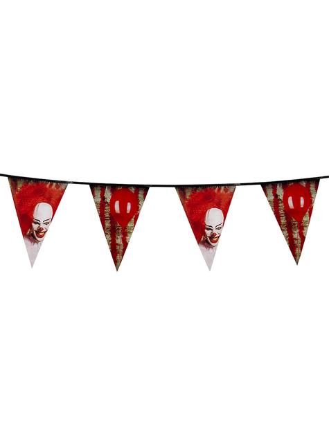 Guirnalda de banderines de payaso del horror