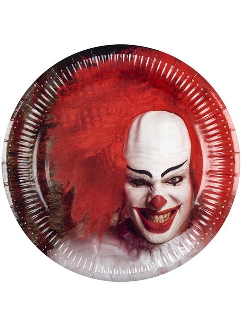 6 horror clown borden (23 cm)