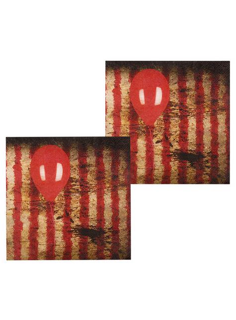 12 horror clown napkins (33 cm)