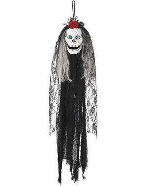 Wisząca dekoracja Halloween Mroczna Catrina