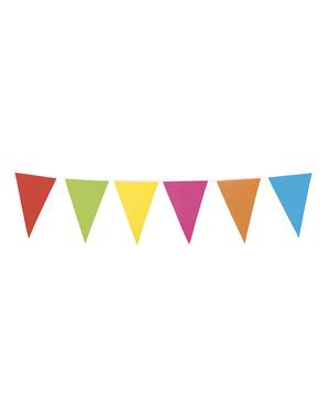 Guirnalda de banderines multicolores (10 m)