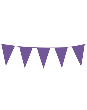 Bunting garland in purple (10 m)