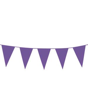 Girlang med flaggor lila (10 m)