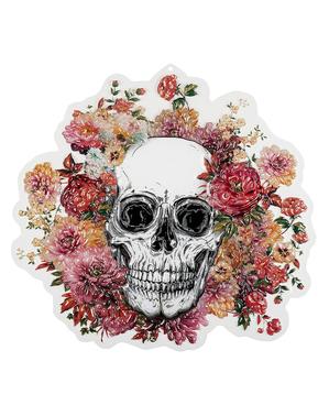 Decoração de pendurar de esqueleto com flores