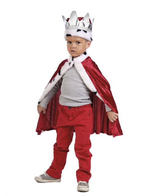 Kit disfraz de rey para niño