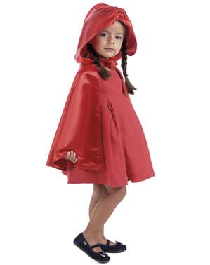 Capa vermelha para menina