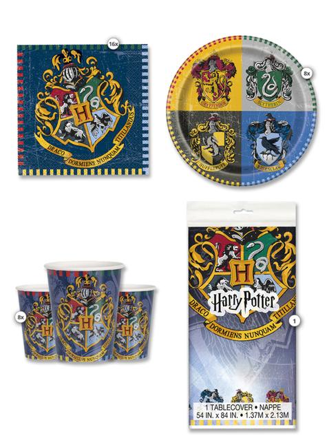 Kit cumpleños Harry Potter Casas 8 personas