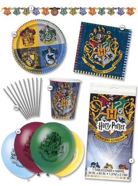 Kit de fiesta Harry Potter Casas 16 personas premium