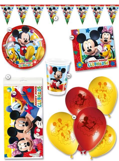 Kit de fiesta Mickey Club House premium 16 personas