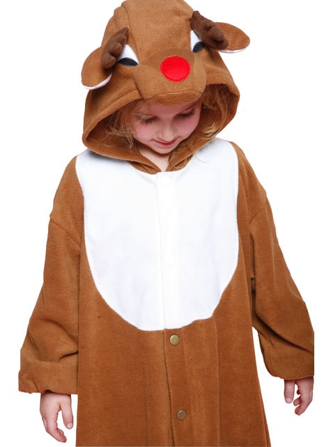 Kids Father Christmas Reindeer Bcozy Onesie
