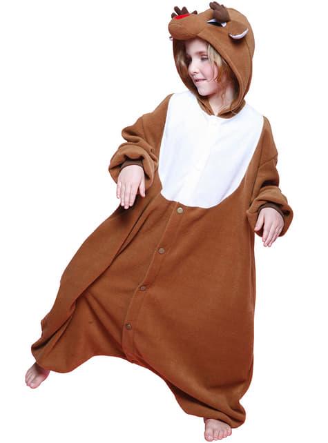 Kids Father Christmas Reindeer Bcozy Onesie