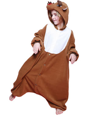 Bcozy Onesie julemandens rensdyr kostume til børn