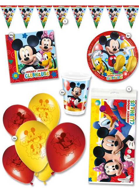 Kit de fiesta Mickey Club House premium 8 personas