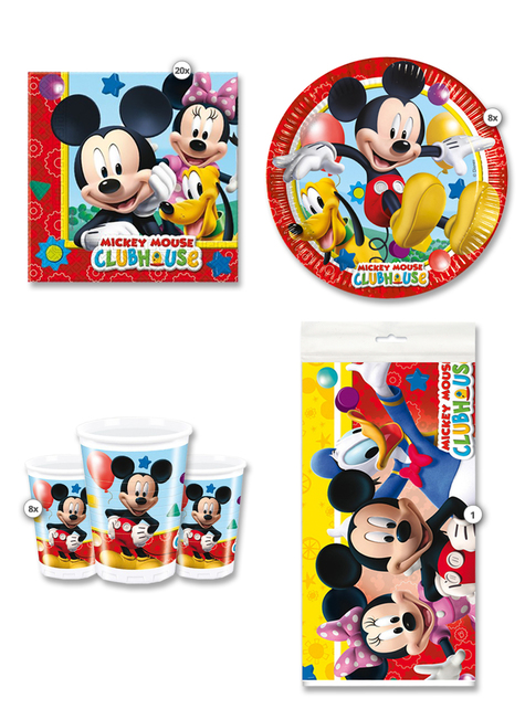 Kit de fiesta Mickey Club House 8 personas