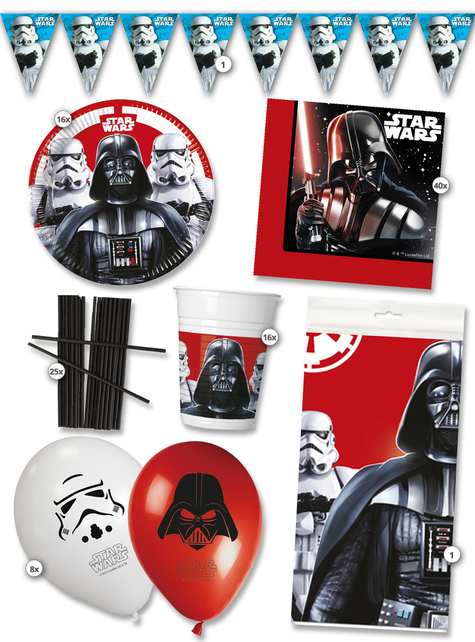 Kit anniversaire Star Wars 16 personnes premium