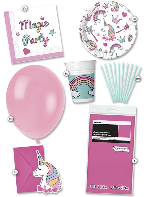 Unicorn Magic Party premium kit for 8 people