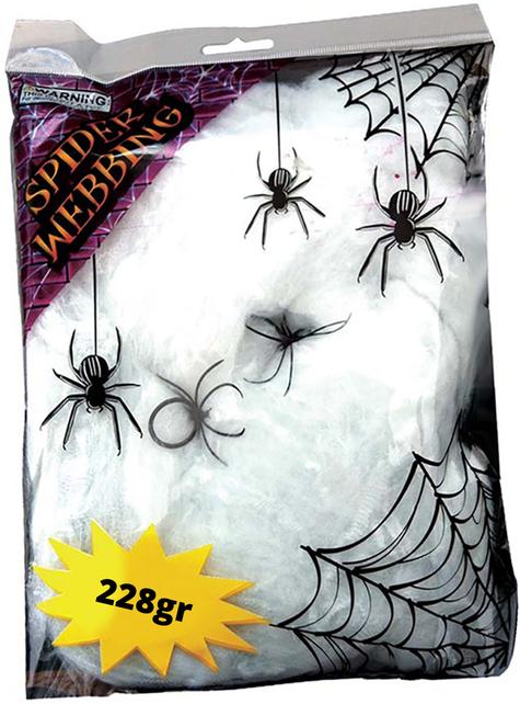228グラムのバッグ。クモの巣