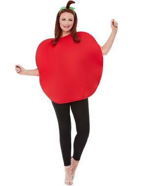 Fato de maçã vermelha para adulto