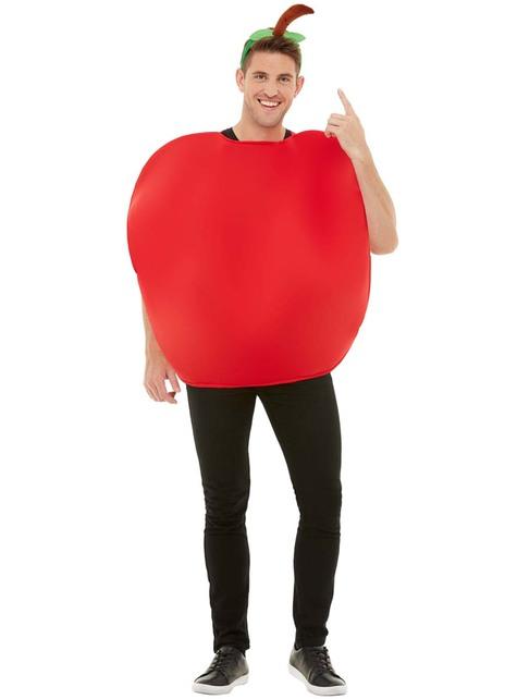 Disfraz de manzana roja para adulto