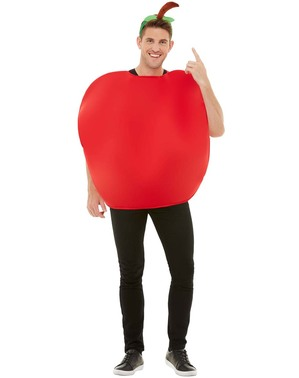 Red apple costume for adults