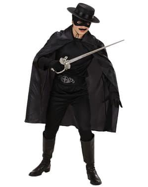 Fijne zwarte cape voor kinderen