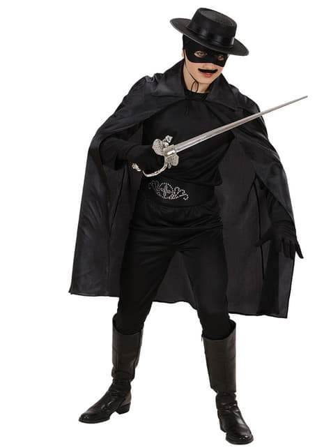 Capa negra fina infantil - para tu disfraz