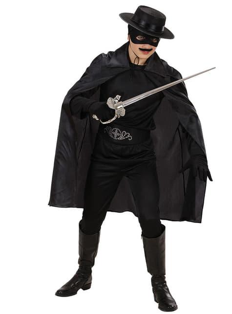 Czarna peleryna dla dzieci