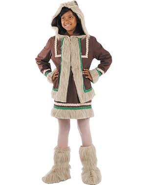 Eskimo kostyme for jente