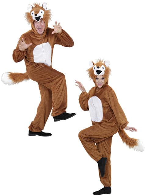 Disfraz de zorro de peluche para adulto