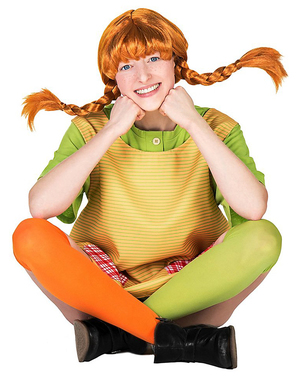 Pippi Longstockings costume for women