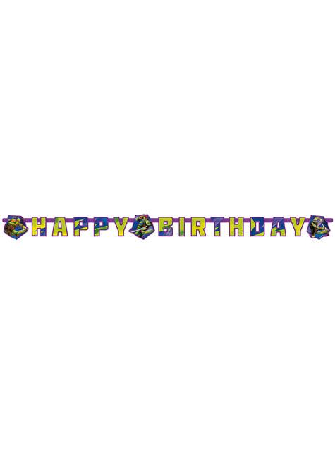 Guirnalda de Feliz Cumpleaños de Las Tortugas Ninja