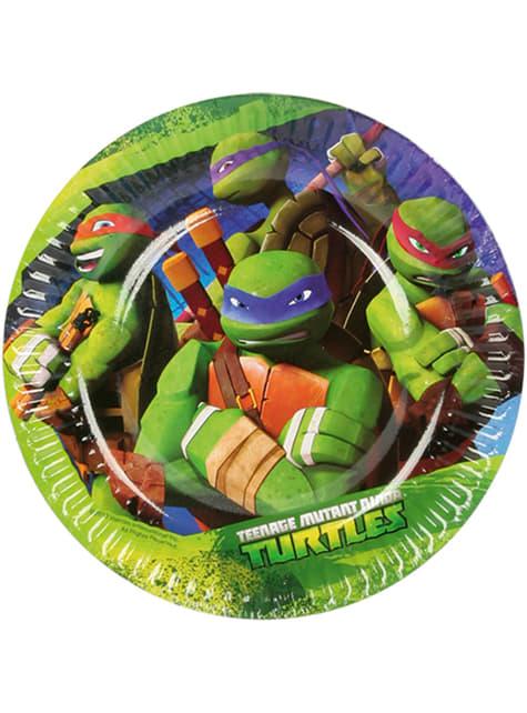 Set de 8 platos de postre de Las Tortugas Ninja