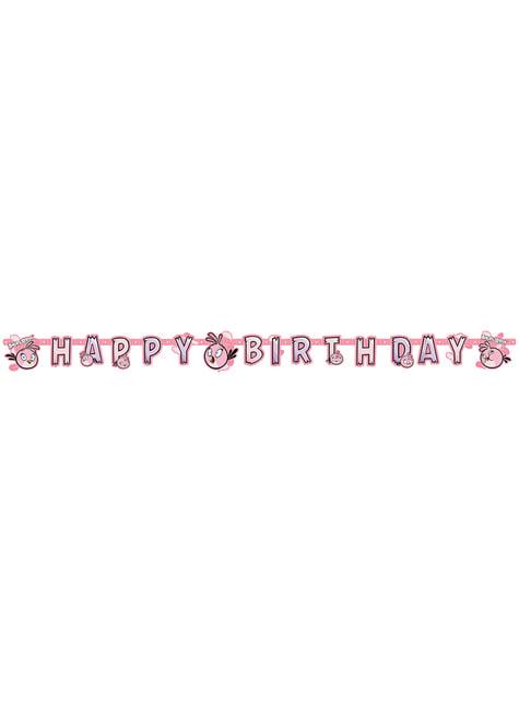 Guirnalda de Feliz Cumpleaños de Stella de Angry Birds