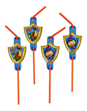 8 Mike the Knight Straws
