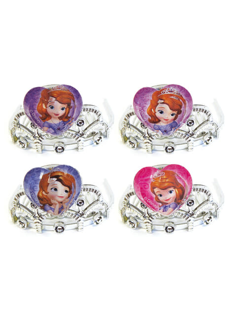 4 Mini Tiaras da Princesa Sofia