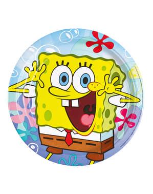 8 pratos grandes de SpongeBob (23 cm)