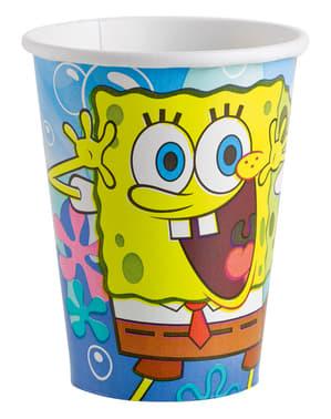 Set van 8 glazen van Spongebob