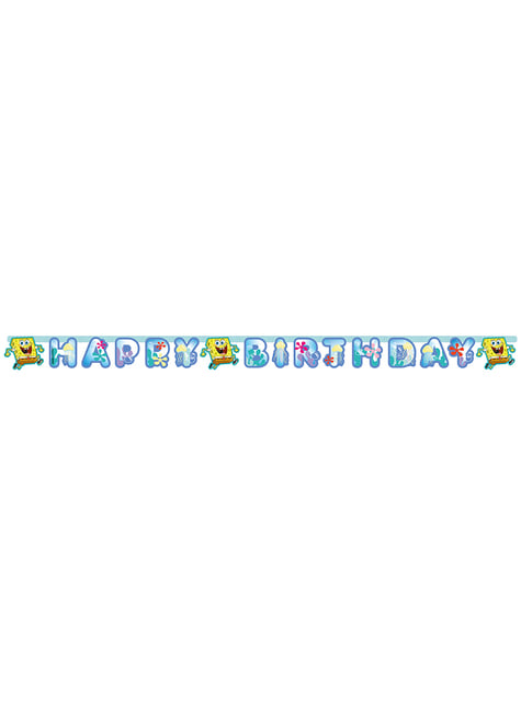 Cartel de Feliz Cumpleaños de Bob Esponja