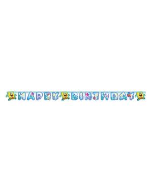 Banner Happy Birthday Sponge Bob
