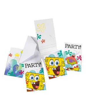 6 invitații Sponge Bob