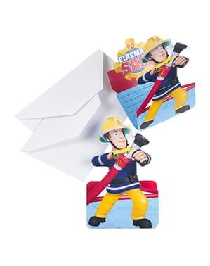8 Fireman Sam Invitations