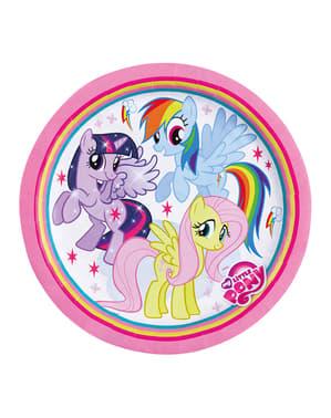 Sett med 8 My Little Pony Dessert Tallerkener