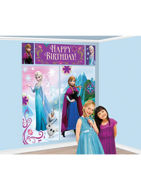 Decoración de pared Feliz cumpleaños de Frozen