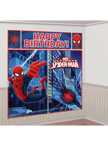 Ultimate Spiderman Happy Birthday Wall Decoration