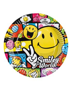 8 Large Smiley Comic Plates