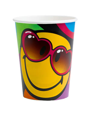 8 vasos de Smiley Express Yourself